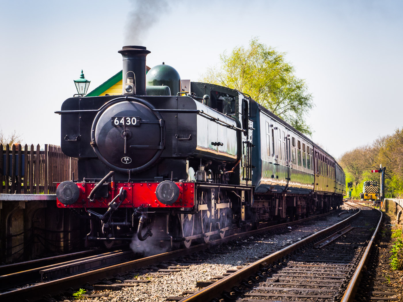 Steam train, Epping and Ongar railway.