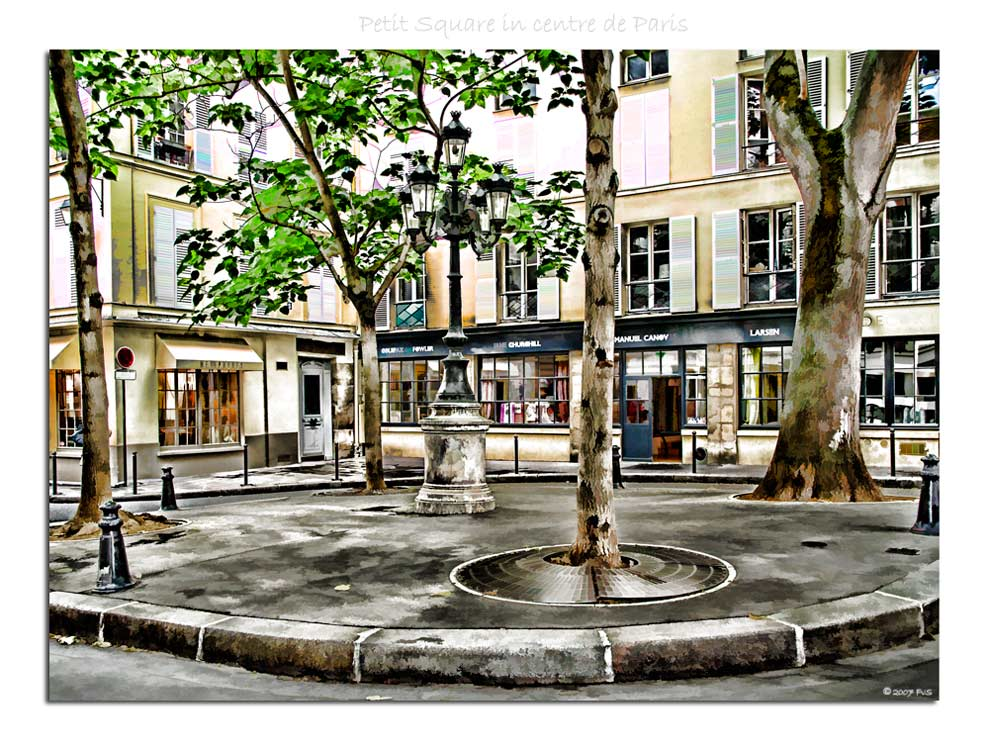 Petit square in Paris