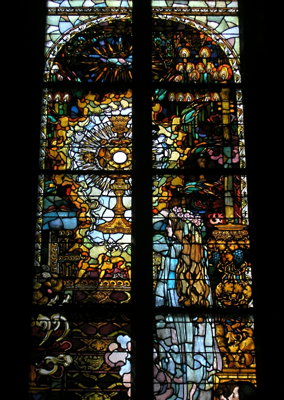 Stained Glass in the St-Nicholas Cathedral (Fribourg, Switzerland)