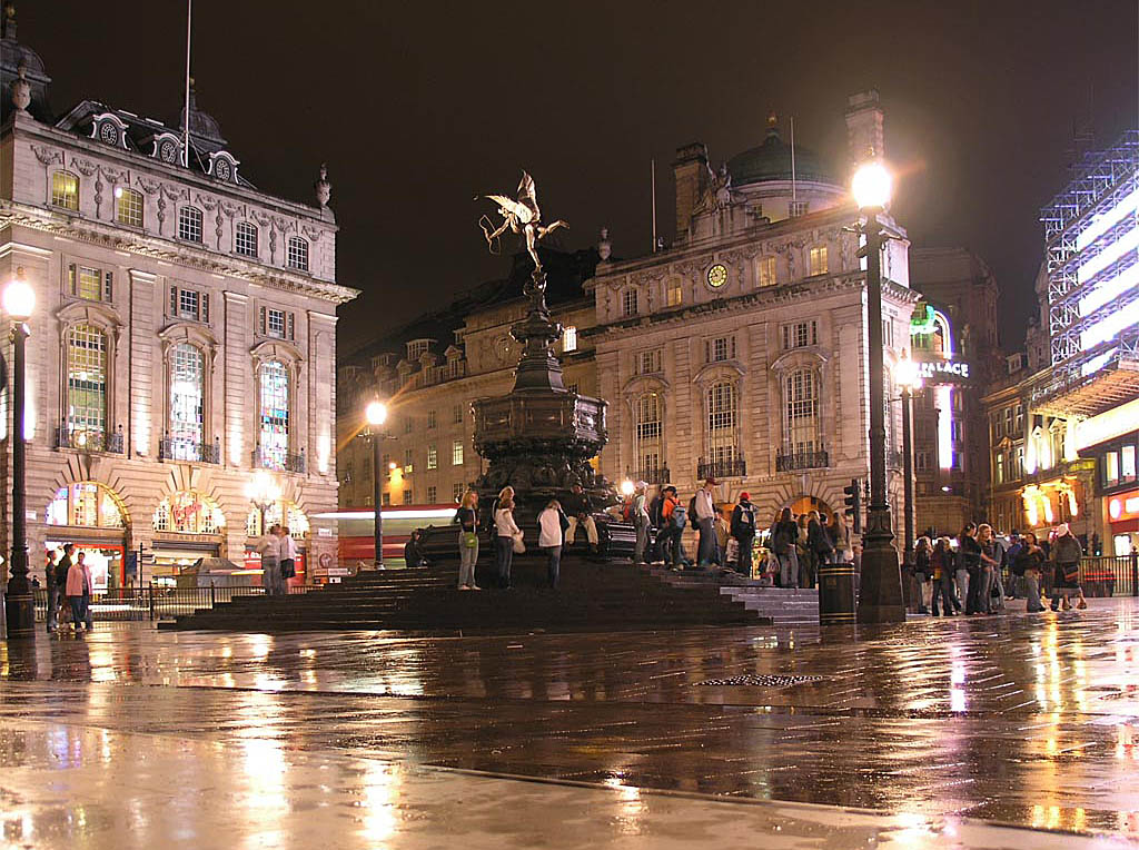 Picadilly Circus at night (E. London)
