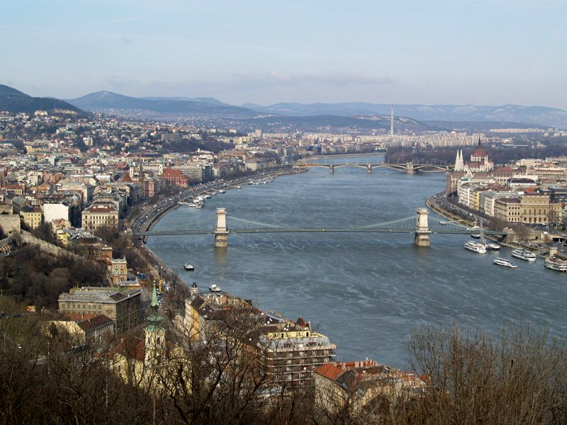 Chain Bridge & Danube River