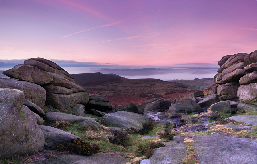 Dawn over Higger Tor
